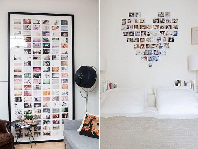 photo wall room ideas pinterest murs de photos murs illustr s et murs aux photos de coeur. Black Bedroom Furniture Sets. Home Design Ideas