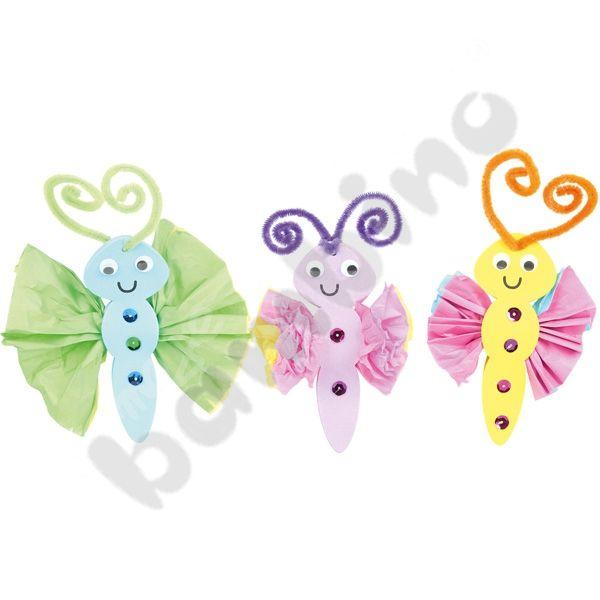 Kolorowe motylki DIY  http://www.mojebambino.pl/produkty-do-ozdabiania/10546-motylki-zrob-to-sam.html