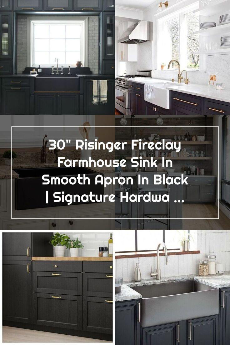 "30"" Risinger Fireclay Farmhouse Sink Smooth Apron"