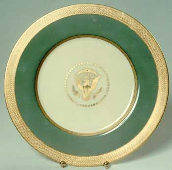 Bess and President Truman's White House china pattern