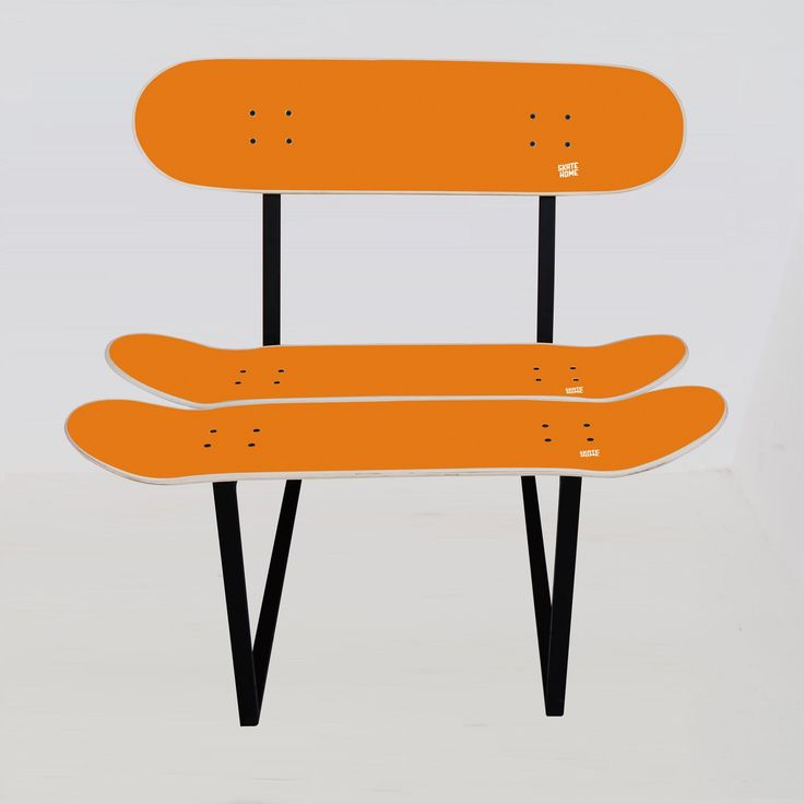 Children 39 s skateboard furniture kids chair with 3 skate for Orange kids chair
