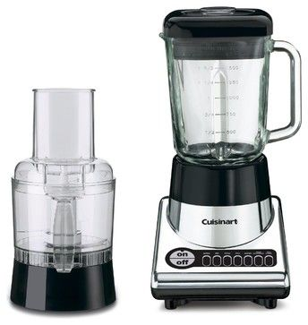 Cuisinart PowerBlend Duet Blender and Food Processor, Chrome and Black contemporary food processors
