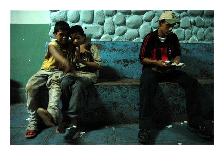 Street Kids and Money Changer - Border, Rivas - Nicaragua