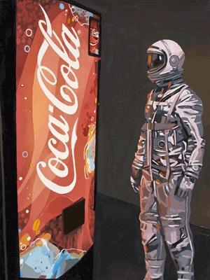 Scott Listfield, love his astronaut paintings