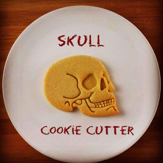 Anatomical Human Skull cookie cutter | biscuit cutter | Prehistoric Humans Archaeology | one of a kind Halloween Macabre | ooak