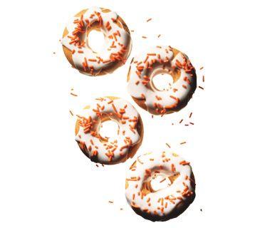 Pumpkin Doughnuts With Sour Cream Icing