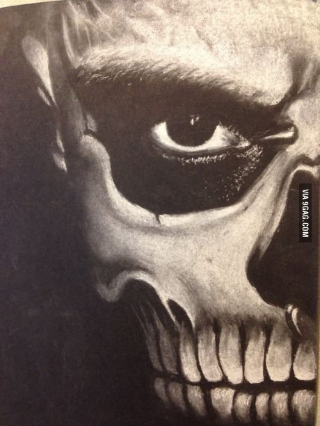Cool skull sketch