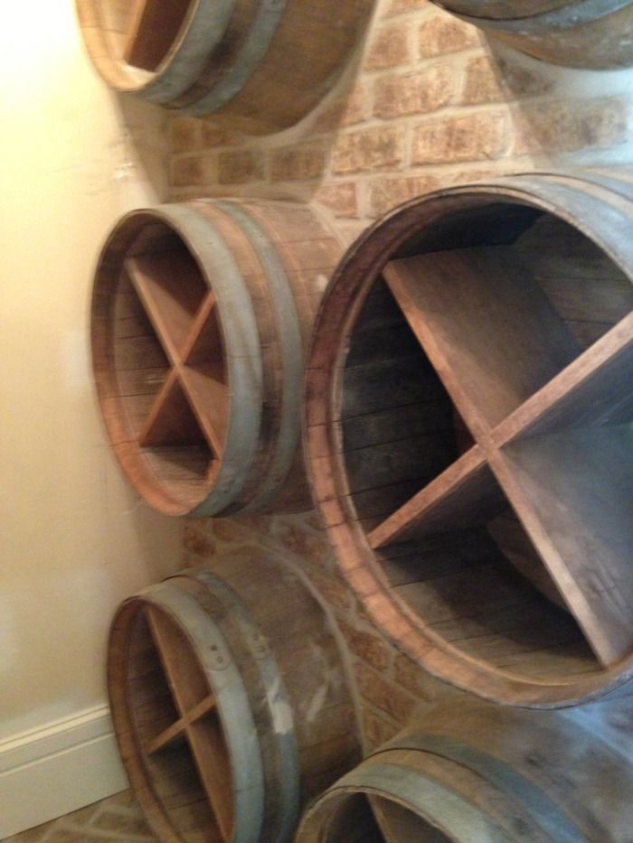 Old wine barrels embedded in brick wall! Secrets of Segreto - Segreto Secrets Blog - A Week with Segreto and Me!!