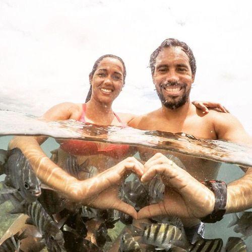 Amor forte até debaixo d'água! (em Praia Porto De Galinhas)