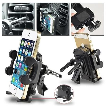 """Insten Car Air Vent Phone Holder Mount (Width to 4.3 inch) for Smartphone iPhone 6 6S 4.7"""" Plus 5.5"""" 5S 5C / Galaxy S6 S5 Edge Note 5 4 Grand Prime Core Ace Style / Lumia 640 635 / Moto G E X Nexus 6"""