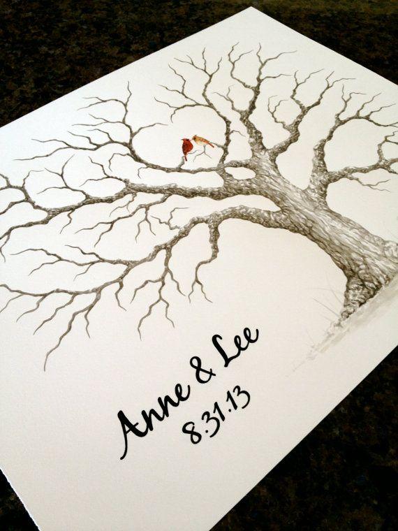 LARGE HEART OAK Wedding Guest book tree 24x18  by LastingKeepsakes, $110.00