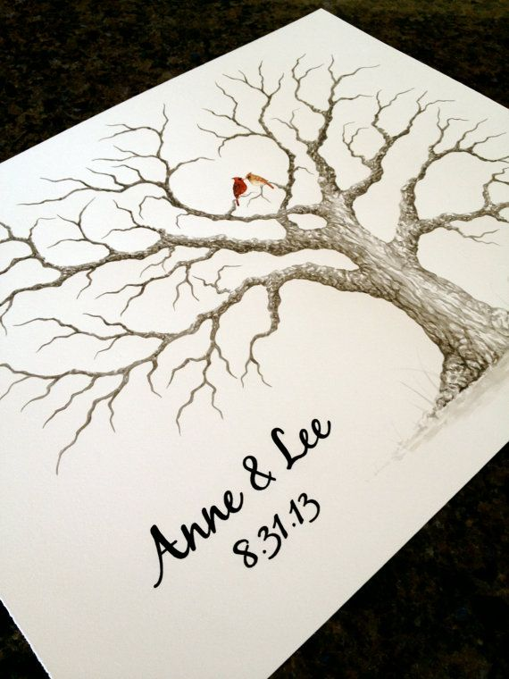 LARGE HEART OAK Wedding Guest book tree 24x18  by LastingKeepsakes, $110.00