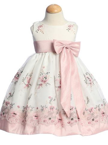 Organza Easter Spring Flower Girl Dress, Baby size 6 months to Girls size 7 Find…