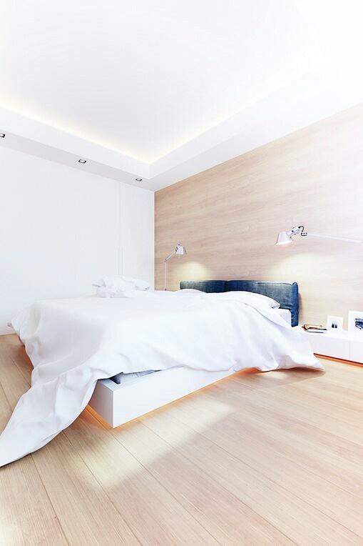 Plancher et mur bois clair