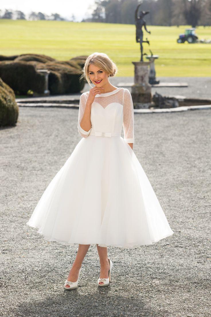 57 best Tea length wedding dresses images on Pinterest   Vintage ...