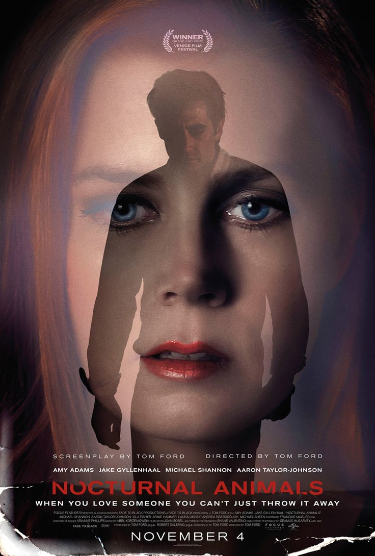 Today we have a new Nocturnal Animals poster featuring the dramatic Jake Gyllenhall and Amy Adams, the film is released in the UK in November