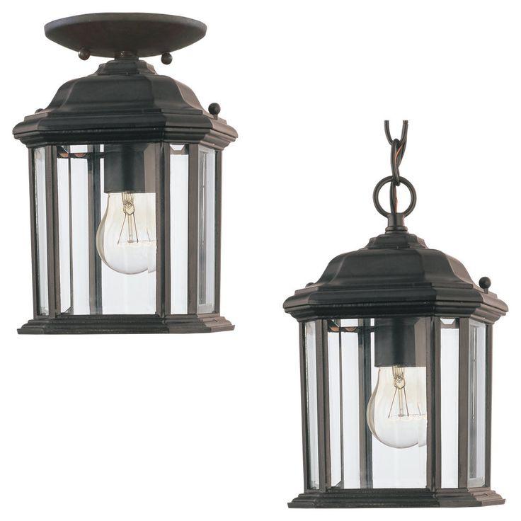 18 best entry lighting images on pinterest exterior lighting sea gull lighting kent 1 light black outdoor pendant overstock shopping big aloadofball Gallery
