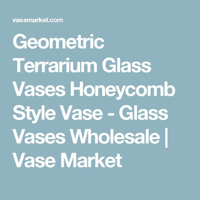 Geometric Terrarium Glass Vases Honeycomb Style Vase - Glass Vases Wholesale | Vase Market