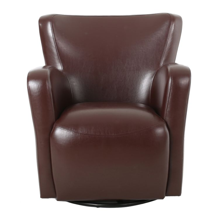 Swivel Club Chairs For Living Room #23: Christopher Knight Home Angelo Bonded Leather Wingback Swivel Club Chair | Shopping - The Best Deals On Living Room Chairs