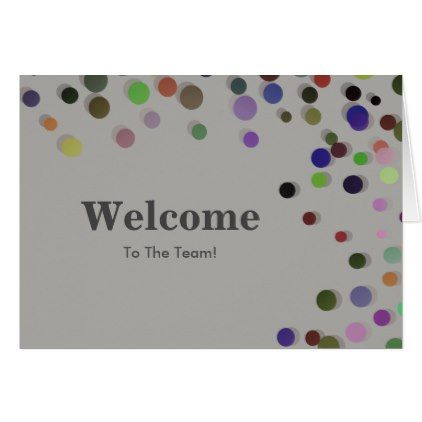 Colorful Falling Sparkles Polka Dots Welcome Card - elegant gifts gift ideas custom presents