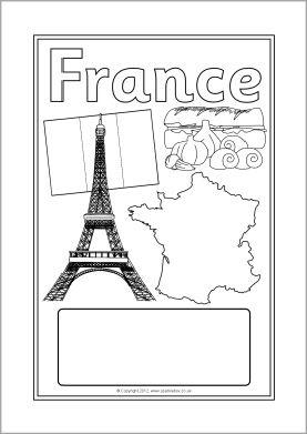 France editable topic book covers (SB8789) - SparkleBox