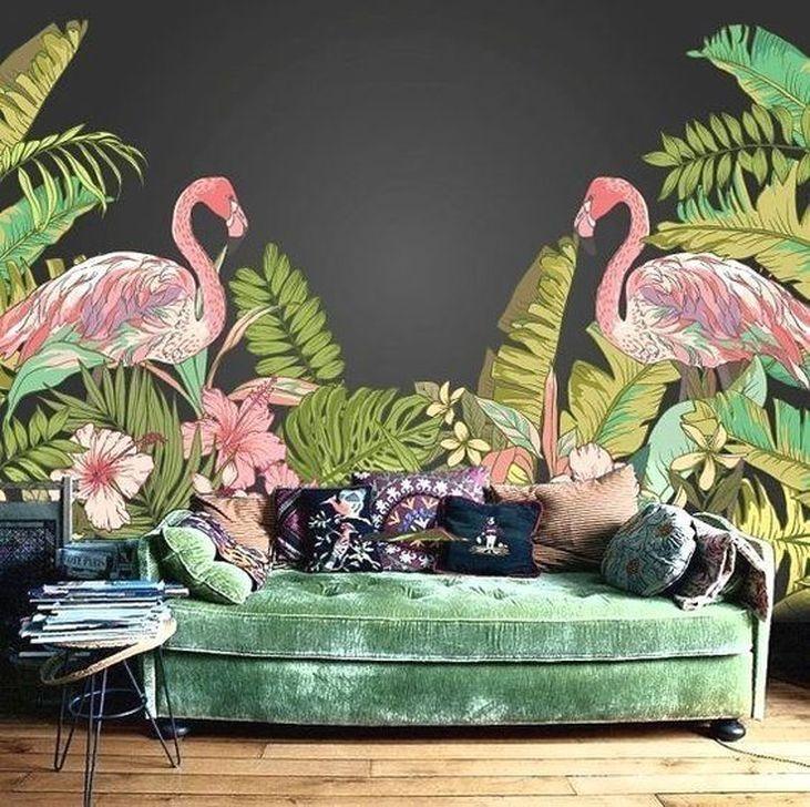 Best Ideas Of Tropical Wall Mural For Summer 30 Tropical Home Decor Flamingo Wallpaper Tropical Decor