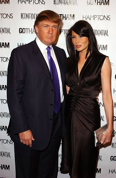 Businessman Donald Trump and his girlfriend Melania Knauss arrive at 'The Apprentice' party hosted by Gotham and Los Angeles Confidential Magazines...