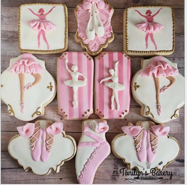 "Home Based on Instagram: ""Ballerina theme sweet 15 #ballerina #decoratedcookies…"