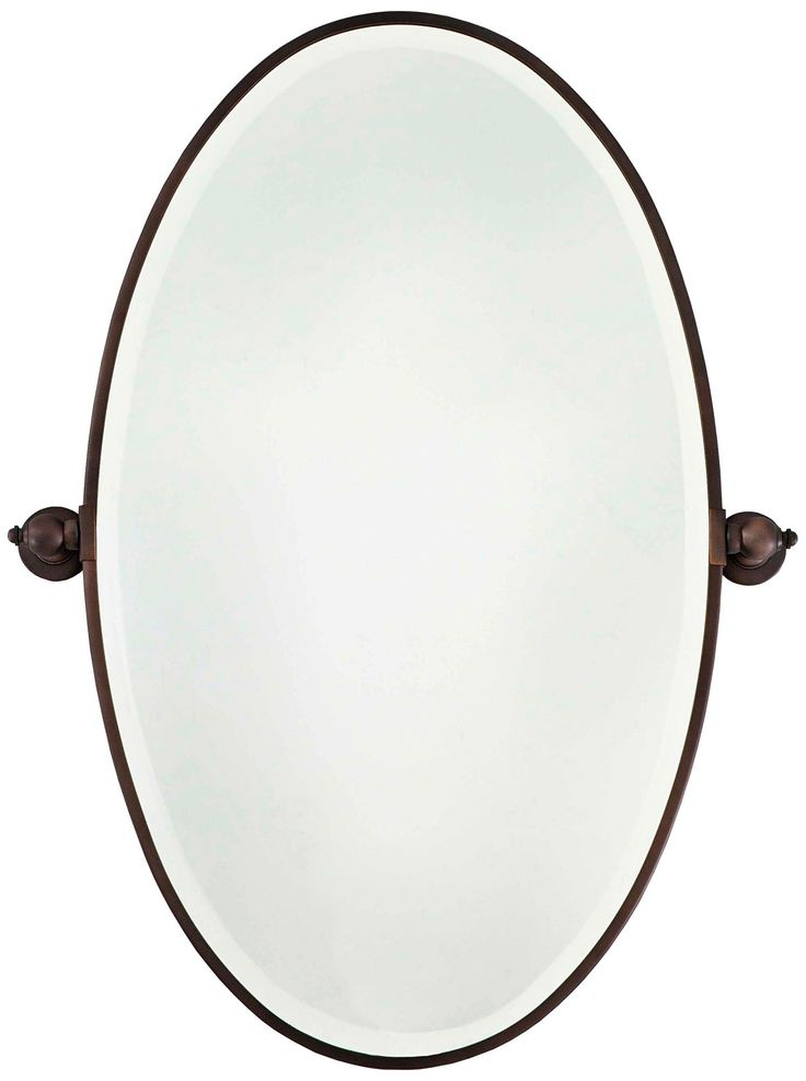 Image Gallery For Website Minka High Oval Brushed Bronze Bathroom Wall Mirror