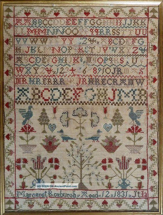 Antique Scottish Georgian Sampler - Margaret Roxburgh, 1831: