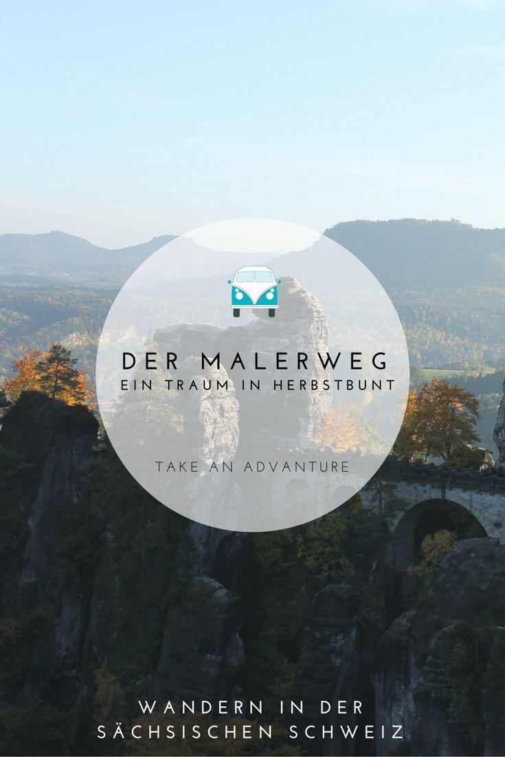 Der Malerweg - ein Fernwanderweg in der Sächsischen Schweiz. Über Stock und Stein geht es durch das Elbsandsteingebirge.