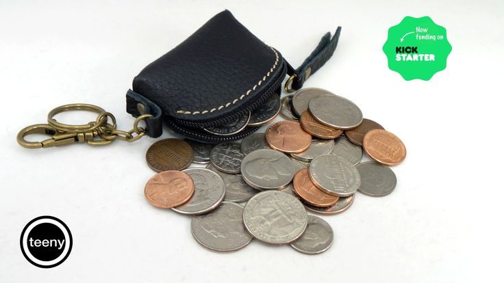 An artisan handmade coin holder for your essential small valuables, allowing you to find things easily just as you need them.
