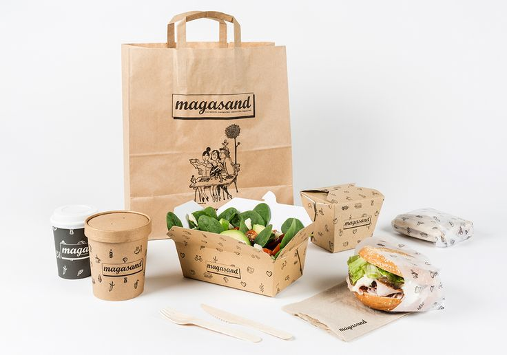 "Branding & Illustrations for Magasand "" Healthy Fast Food "" restaurant."