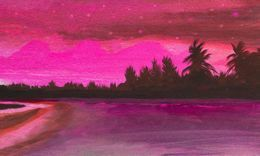 Sea Surf Sunset Sky Stars by 1stanimal-artdesigncolour at zippi.co.uk