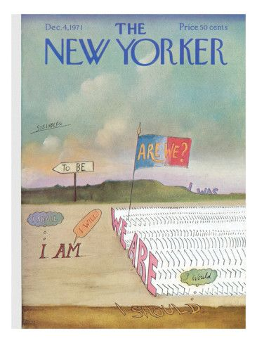 The New Yorker Cover - December 4, 1971 Poster Print by Saul Steinberg at the Condé Nast Collection