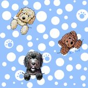 Pocket Doodle Dogs - kiniart - Spoonflower