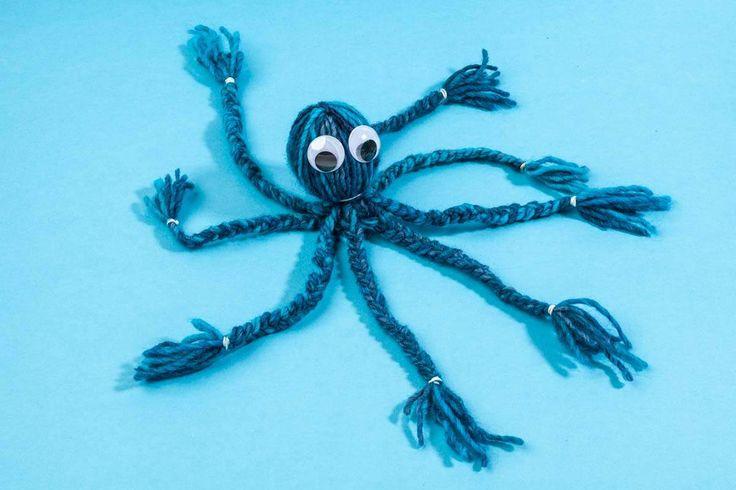 Ga met de kids creatief aan de slag met garen. Lees hier hoe je deze leuke octopus en nog andere projecten met garens maakt: https://www.hobbyou.nl/winkel/kids/bolletjes_garen/