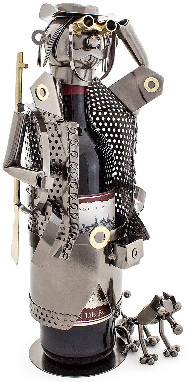 Skulptur Flaschenhalter Geschenk Idee Jäger Metall, Jagd ...