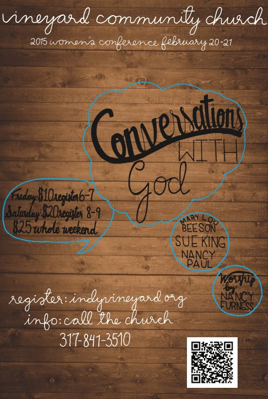 The Vineyard Community Church 2015 Women's Conference Posters | Adobe Illustrator Work | Mikyla Houston | Handlettering | Typography | Calligraphy | on Behance