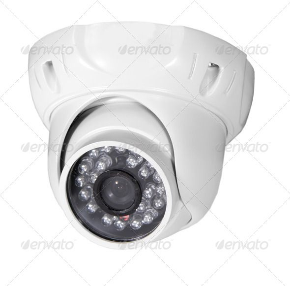 Video surveillance camera. http://photodune.net/item/isolated-video-surveillance-camera/5481510