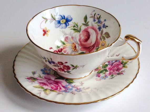 Paragon Fine Bone China England tea cup and by JoyJoeTreasures.