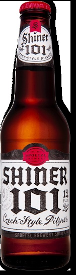 "Shiner 101 Czech-style Pilsner  Spoetzl Brewery, Shiner, Texas    I love a good pilsner. There's a good story in ""300 Beers To Try Before You Die"", about Pilsner Urquel, the Czech birthplace of pilsner beer, and how modernization killed it. Describing this ""medium-gold Bohemian pilsner"", ""malt is clean and pronounced"", ""flavor does well on the malt side"". although it could use a ""touch more hop bitterness"". Unfortunately, not found here in MA :( It's also the first one so far this year with…"