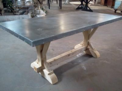 Exceptional Zinc Table Top, Indestructible For Kids