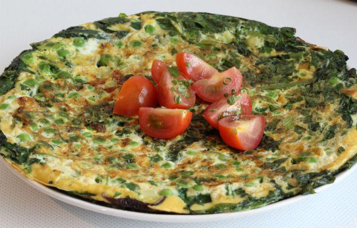 Makkelijke lunch eet clean groente omelet