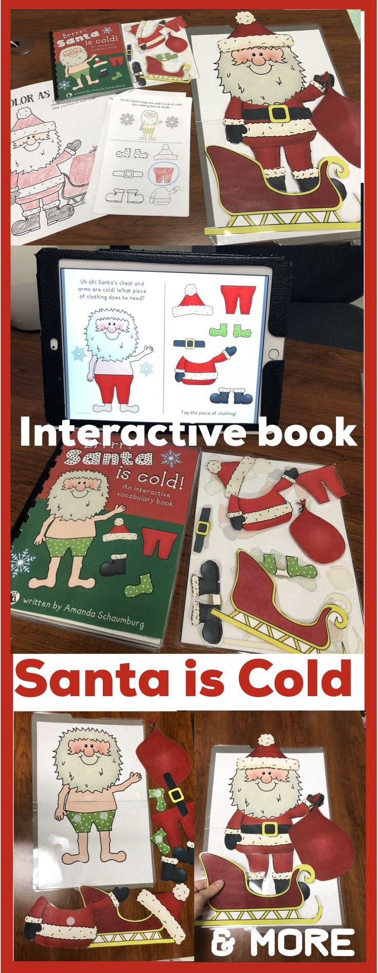 The cutest interactive book around! Help Santa get dressed!