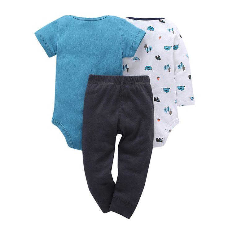 Baby Boys girl Clothing Set 3pcs Set Gray bear Trousers 2pcs Striped Climbing clothes 0 2Y. Click visit to buy #BabyBoyClothingSets