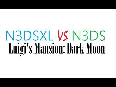 New 3DS VS New 3DS XL - Luigi's Mansion Dark Moon
