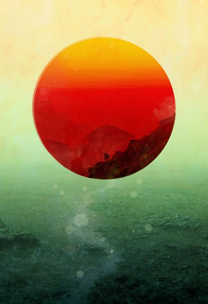 Circle Inspiration / In the end, the sun rises Art Print