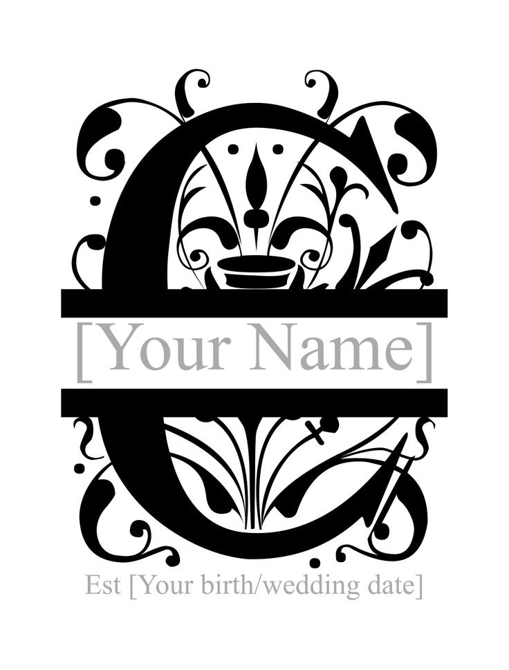 Split Monogram Personlised Favorite Things To Remember