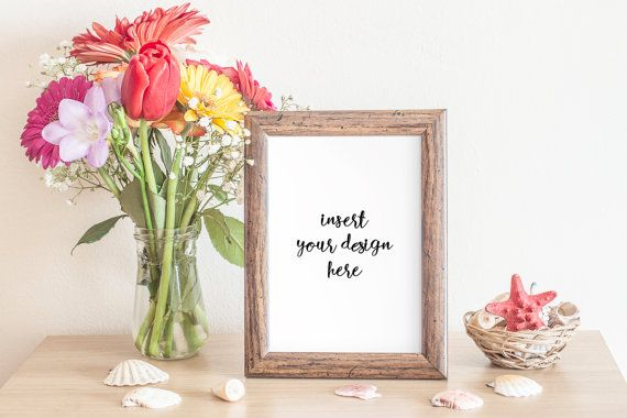 Elegant Frame And Bouquet Mock-up  High Quality .PSD by JeanBalogh